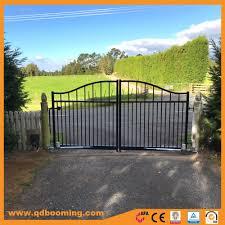 Garden Gate Landscape And Design China Customized Design Wrought Iron Aluminum Steel Black