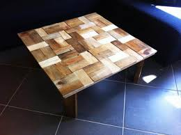 diy pallet coffee table with patterned
