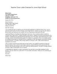 High School Resume Cover Letter Teaching Sample Student Vozmitut