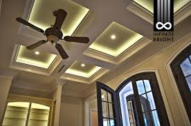 coffered ceiling lighting. The Drama Of This Lighting Combo Is Phenomenal! Coffered Ceiling With Cove LED Lighting. A