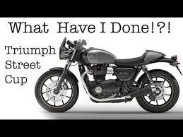 done triumph street cup motorcycle