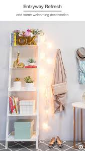 image ladder bookshelf design simple furniture. style your entryway like a room liven up simple bookshelf with oh joy image ladder design furniture