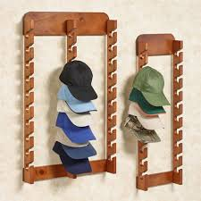 Wooden Hat Display Stand Unique Wood Cap Display Wall Rack Holds Up To 32 Hats