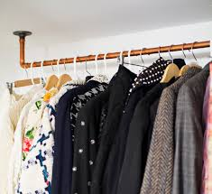 wall mounted pipe clothing rack