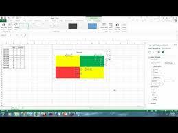 Multi Colored Quadrant Chart In Excel Youtube