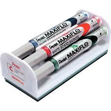 Brosse pour tableaux blanc + 4 marqueur Maxiflo   Vente d'Accessoire ...