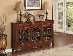 Hallway Console Cabinet L Powell Walnut 3 Door Scroll Console Home Furniture