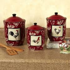 Red Kitchen Decor Kitchen Rooster Themed Kitchen Pots Ideas What Makes Rooster