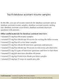 topdatabaseassistantresumesamples lva app thumbnail jpg cb