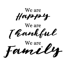 Thankful For Family Quotes Extraordinary Happy Thankful Family Wall Quotes™ Decal WallQuotes