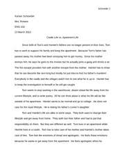 personal narrative essay schroeder karson schroeder mrs rolwes  2 pages comparison example