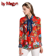 <b>By Megyn</b> 2017 Fashion Designer Runway <b>Women Blouses</b> Bow ...