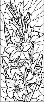 Glas In Lood Lelies Kleurplaat Gratis Kleurplaten Printen