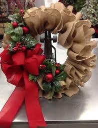 burlap ruffle wreath over 30 of the best homemade holiday wreath ideas
