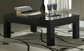 Table Basse Laque Noir L