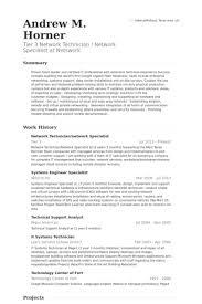 Network Specialist Resume Samples - VisualCV Resume Samples Database