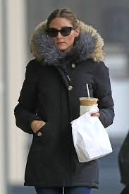 socialite olivia palermo in new york in park faux fur coat just the design