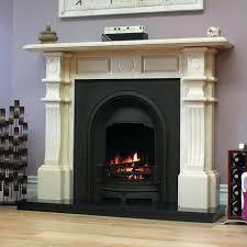 edwardian marfil stone fireplace