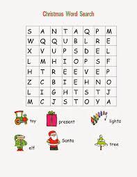 Christmas For Kids 5 Christmas Word Search For Kids Easy