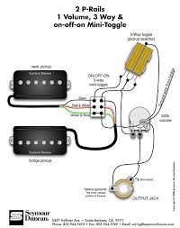 118 best guitar wiring diagrams images on pinterest guitar Strat Three Way Switch Diagram seymour duncan p rails wiring diagram 2 p rails, 1 vol, strat 3 way switch wiring