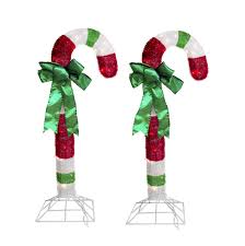 Large Candy Cane Decorations Lighted Candy Canes Set Large Candy Cane Decorations 75