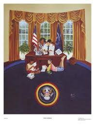 oval office paintings. Oval Office - 17x13 Print Annie Lee Paintings
