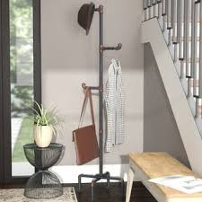 Brass Coat Rack Freestanding Industrial Pipe Coat Rack Wayfair 76