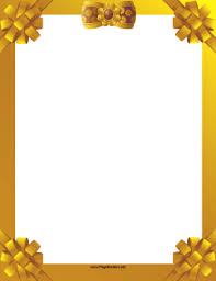 gold ribbon border gold ribbon border png