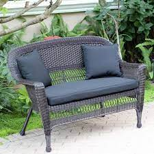 resin wicker patio loveseat cushion and