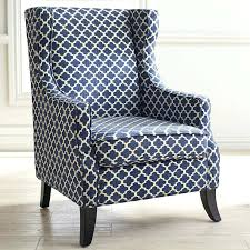 Blue Pattern Accent Chair Awesome Beautiful Chairs Exquisite Navy Blue Wingback Accent Chair Moroccan