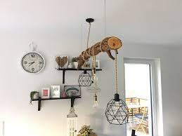 Led Lampe Holz Ast Vintage Esstisch Diy Wood Bad Malen In