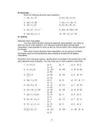 math gallery solving absolute value equations worksheet algebra 2 capture