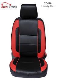 autofurnish cz 110 liberty red maruti zen old leatherite car seat covers