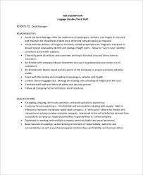 Package Handler Job Description Sample 8 Examples In Word