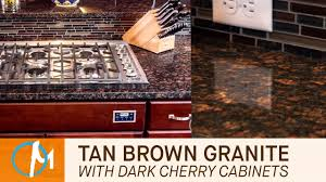 Tan Brown Granite Countertops Kitchen Tan Brown Granite Kitchen Countertops With Dark Cherry Cabinets