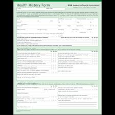 medical health history form ada health history form for dental patients s500