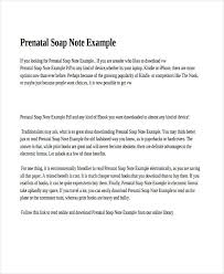 How To Write A Soap Note Prenatal Soap Note How To Write A Soap Note Eclipse Articles Com