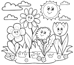 Small Picture Flower Growing Coloring Pages Coloring Pages