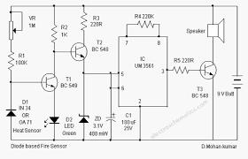 fire sensor circuit diode based fire sensor circuit diagram