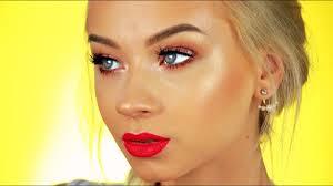 glowy bronze summer makeup tutorial you