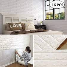 Lukzer 3d Foam Self Adhesive Brick Wall ...