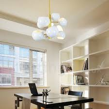 white 10 light modern contemporary chandelier lamp for living room bedroom dining room