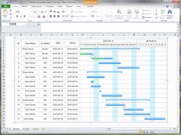 Gantt Chart Using Excel 2010 Gantt Chart Template Excel 2010 Download And Project