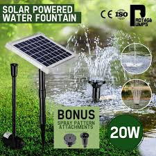 solar powered water fountain pump by protege