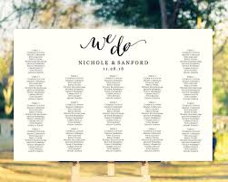 Seating Chart Wedding Sign We Do Wedding Seating Chart Template In Four Sizes Wedding