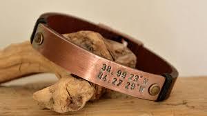 custom leather men s copper bracelet special mens gift now from com
