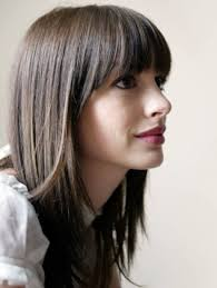 Straight Across Bangs With Long Hair Beauty And Hair Pinterest