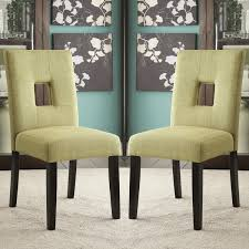 green upholstered chairs. Maldives Open Back Green Upholstered Parsons Dining Chairs (Set Of 2) R