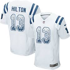 Elite Football White Jersey T 6120410 Fashion Road 13 - y Colts Hilton Indianapolis Men's Drift