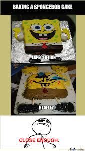 Baking A Spongebob Cake By Recyclebin Meme Center